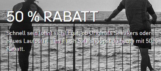 Endet bald! Adidas Flash Sale mit 50% Rabatt auf Sale Artikel + 15% Extrarabatt!