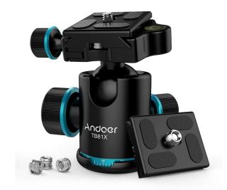 Andoer TB81X Kugelkopf Stativkopf für nur 18,69 Euro bei Amazon