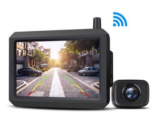 AUTO-VOX W7 Kabellose Rückfahrkamera mit 5''LCD-Monitor und Einparkhilfe für 97,57 Euro