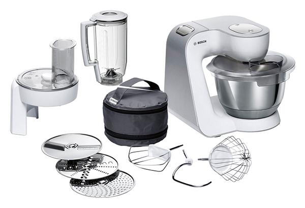 Bosch CreationLine MUM58W20 Küchenmaschine mit Durchlaufschnitzler und Mixer-Aufsatz für nur 195,- Euro