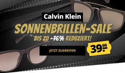 Viele verschiedene Calvin Klein Sonnenbrillen für nur je 43,94 Euro inkl. Versand
