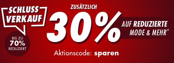 30% Rabatt auf bereits reduzierte Mode und Mehr bei ...