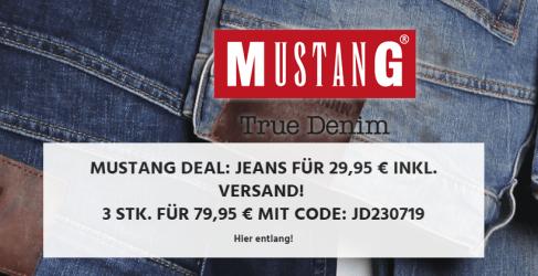 Drei Mustang Jeans für nur 79,95 Euro inkl. Versand