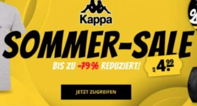 Kappa Sommer-Sale bei SportSpar mit bis zu 79% Rabatt