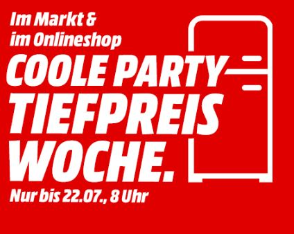 """MediaMarkt """"Coole Party"""" – Tiefpreiswoche mit vielen günstigen Angeboten z.B. LG GBP 62 DSNFN Kühlgefrierkombination für nur 599,- Euro"""