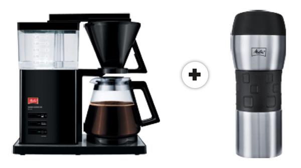 MELITTA 1007-03 Aroma Signature Deluxe Kaffeemaschine + Thermobecher für nur 79,- Euro (statt 118,- Euro)