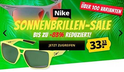 Knaller! Viele verschiedene Nike Sonnenbrillen für nur je 37,28 Euro inkl. Versand