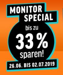 Notebooksbilliger Monitor Special mit bis zu 33% Rabatt auf Monitore verschiedener Hersteller