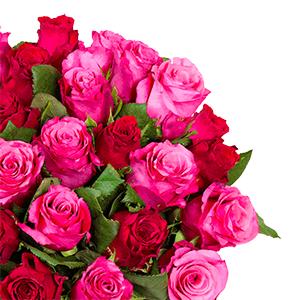 """Blumenstrauß """"RomanticRoses"""" mit 41 pinken und roten Rosen für 25,98€ inkl. Lieferung"""