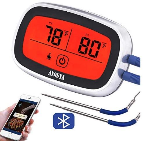 AYOUYA Bluetooth Grillthermometer mit 2 Temperatursonden nur 14,99 Euro