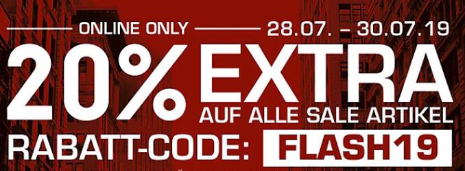 Nur noch heute: 20% Extra Rabatt auf Sale Artikel bei Snipes