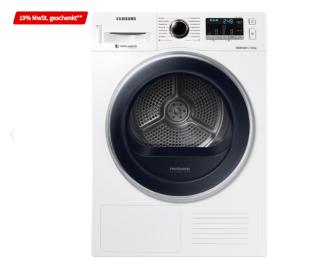 Samsung DV81M5210QW/EG Wärmepumpentrockner (8 kg, A+++) für nur 466,39 Euro bei MediaMarkt