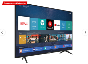 Hisense H43B7100 LED TV (43 Zoll) UHD 4K, SMART TV für nur 279,- Euro inkl. Versand