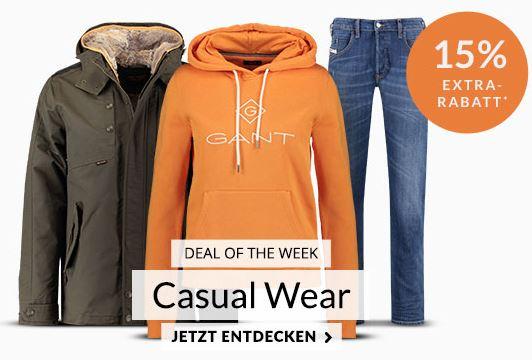 Engelhorn Weeklydeal: 15% Rabatt auf Casual Looks + 5,- Euro Newlettergutschein