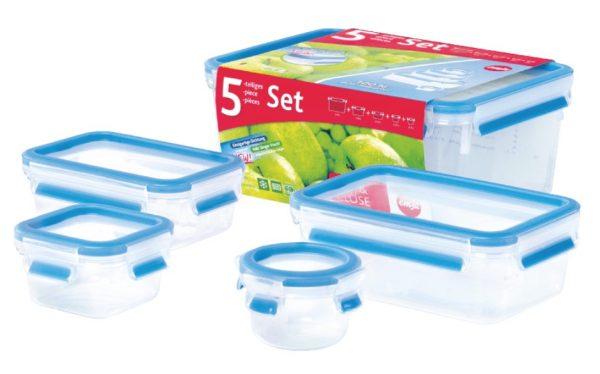 5-tlg. EMSA 508568 Clip&Close Frischhalte-Set für nur 12,- Euro