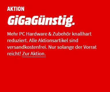"""MediaMarkt """"GiGaGünstig"""" Aktion mit verschiedener IT-Hardware"""