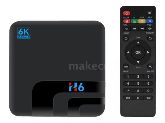 H6 Android 9.0 6K Smart TV Box (32GB Speicher, 4 GB Ram) für nur 31,45 Euro inkl. Versand