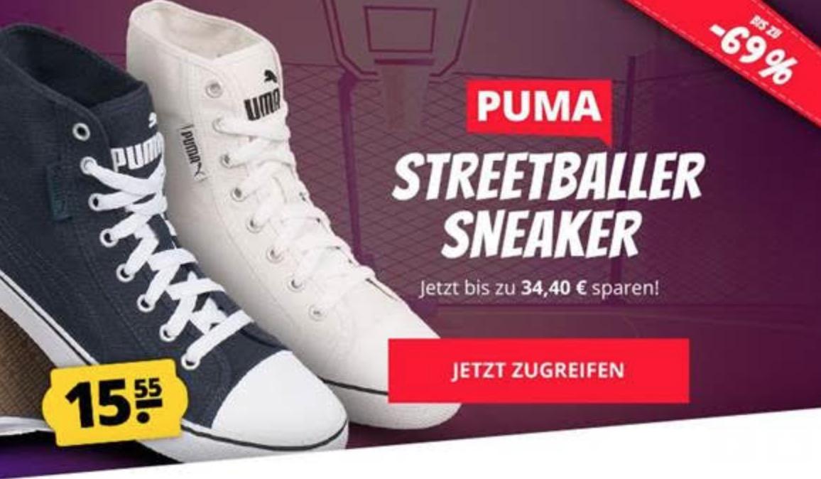 PUMA Streetballer Mid/Low Unisex Sneaker für nur 19,50 Euro inkl. Versand