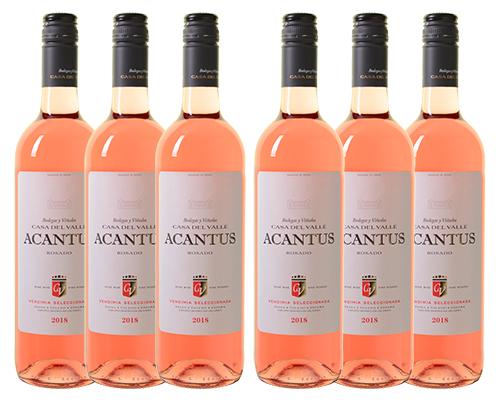 6 Flaschen Bodegas y Viñedos Casa del Valle Acantus Rosado für nur 31,98 Euro