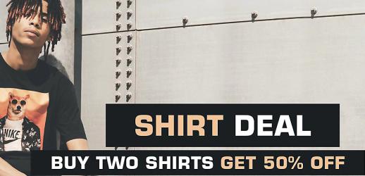 Kauft zwei Shirts bei Snipes und sichert euch 50% Rabatt