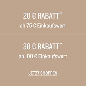 Bis zu 30,- Euro Rabatt je nach Bestellwert im Tom Tailor Onlineshop