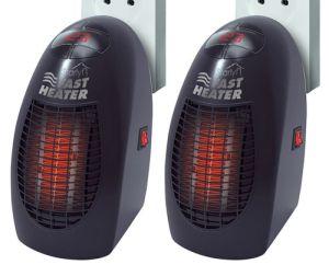 2x Starlyf Fast Heater Mini-Heizung Heizlüfter Schnellheizer Elektro-Heizer 400W für nur 11,11 Euro inkl. Versand