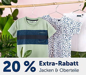 20% Rabatt auf alle Oberteile und Jacken im myToys Onlineshop