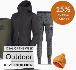 Engelhorn Sports Weeklydeal mit 15% Rabatt auf Outdoor Artikel + 5,- Euro Newlettergutschein