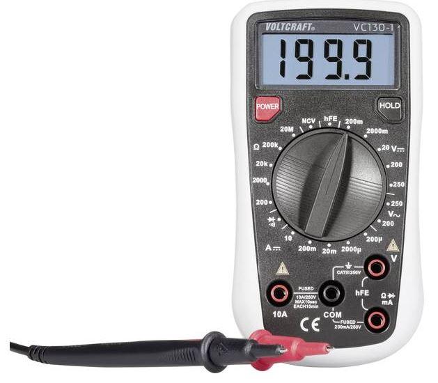 VOLTCRAFT VC130-1 Hand-Multimeter (digital CAT III 250V Anzeige) für nur 17,99 Euro inkl. Versand