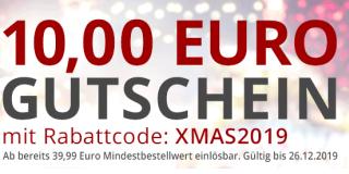 10,- Euro Gutschein Zu Weihnachten bei Druckerzubehoer.de (MBW 39,99) + Gratisprodukte