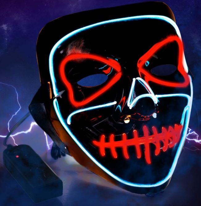 Halloween LED Maske mit 3 verschiedenen Lichtmodi für nur 6,99 Euro bei Amazon