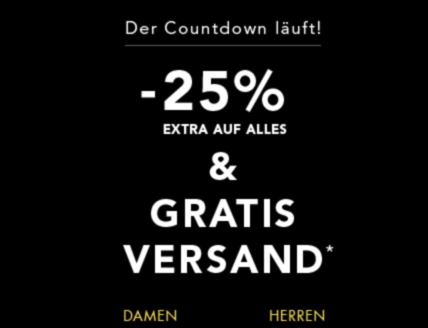 25% Extrarabatt auf Alles bei Dress-for-Less + versandkostenfreie Lieferung