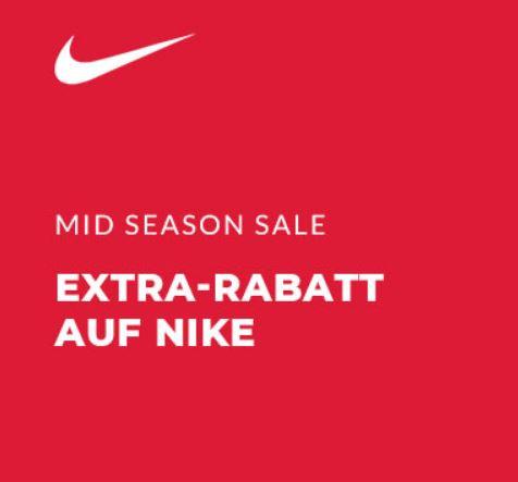 Midseason Sale mit 20% Extrarabatt auf ausgewählte Nike Artikel im Engelhorn Online Shop