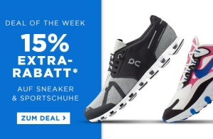 Letzter Tag: Engelhorn Sports Weekly Deal mit 15% Rabatt auf Schuhe & Accessoires