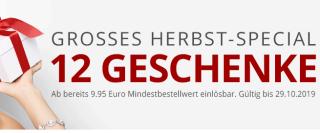Zum Herbstanfang 12 verschiedene Gratisartikel bei Druckerzubehoer.de (ab 9,95 Euro Bestellwert)