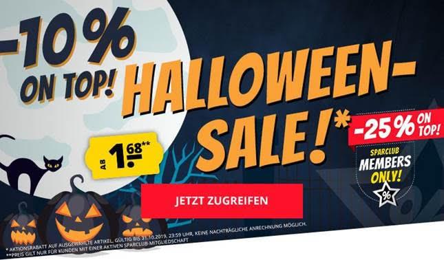 SportSpar Halloween Sale mit vielen Deals ab 1,68 Euro + bis zu 25% Extra-Rabatt