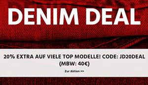 20% Rabatt auf über 155 Damen- und Herren Jeans im Jeans-Direct Online-Shop