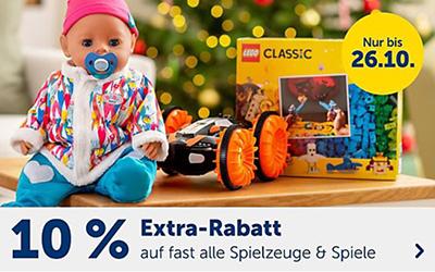 10% Rabatt auf Spielzeug & Spiele im myToys Onlineshop (MBW: 29,- Euro)