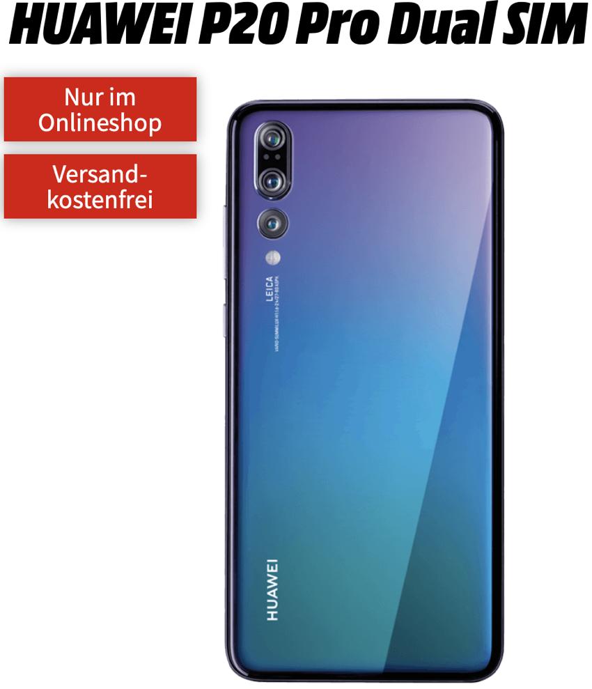 MD Telekom oder Vodafone Flat green LTE 2GB Extra mit 2GB Daten für mtl. 11,99 Euro + HUAWEI P20 Pro Dual SIM für einmalig 79,- Euro