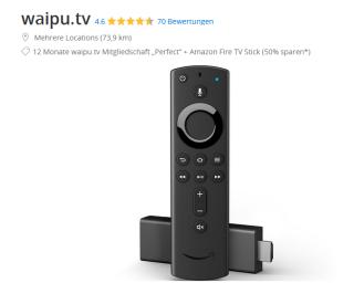 "12 Monate waipu.tv Mitgliedschaft ""Perfect"" + Amazon Fire TV Stick für 79,92 Euro"