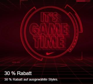30% Rabatt auf ausgewählte Artikel im Nike Onlineshop