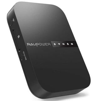RAVPower Filehub Reise WiFi Router AC750 mit NAS-Funktion, SD-Kartenleser und 6.700 mAh Akku für 39,99 Euro