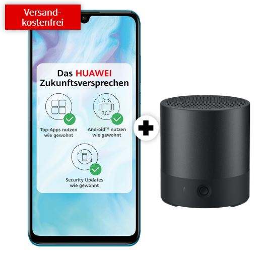 Super Select S Tarif (O2 Netz) mit 4GB Daten nur 14,99 Euro monatlich + HUAWEI P30 lite Dual SIM & Huawei Mini Speaker für einmalig nur 29,- Euro