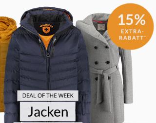 Engelhorn Mode Weekly-Deal: 15% Extra Rabatt auf Jacken