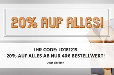 20% Rabatt auf das gesamte Sortiment im Jeans-Direct Onlineshop (MBW: 40,- Euro)