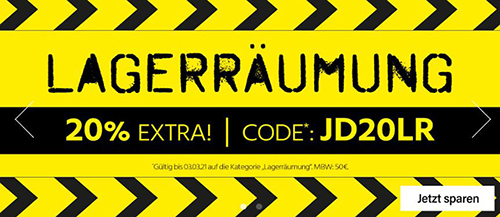 20% Rabatt auf über 1.000 Produkte bei Jeans-Direct – MBW: 50,- Euro