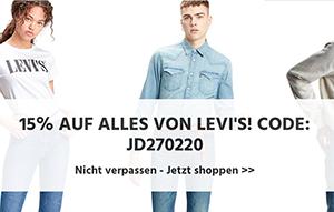 15% Extra-Rabatt auf alle Levi's Produkte bei Jeans-Direct