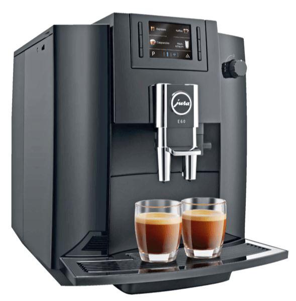 JURA E60 Kaffeevollautomat (15 bar, Piano Black) ab 639,- Euro inkl. Versand