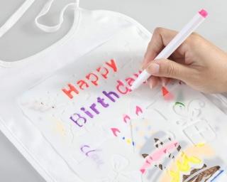 10er Pack Babylätzchen zum selber bemalen (mit 14 Stiften und Schablonen) für 11,39 Euro