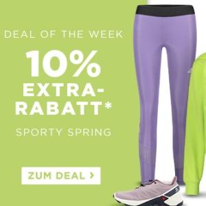 Engelhorn Sporty Spring Weekly-Deal: 10% Rabatt auf die Kategorie Sport